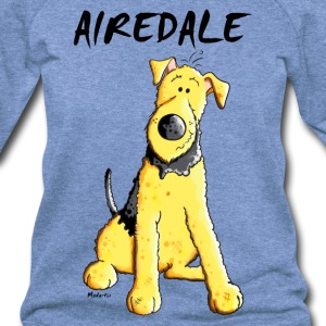 Funny Airedale Terrier Long Sleeve Shirts - Women's Wideneck Sweatshirt