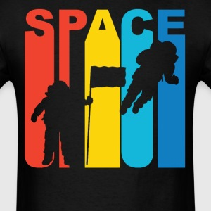 Retro Astronaut Silhouette Space Science T-Shirt - Men's T-Shirt
