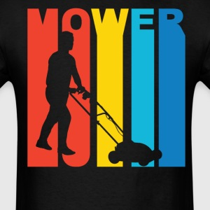 Lawnmower Silhouette Grass Cutting Shirt - Men's T-Shirt