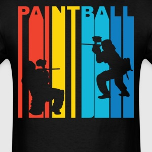 Paintball Players Silhouette T-Shirt - Men's T-Shirt