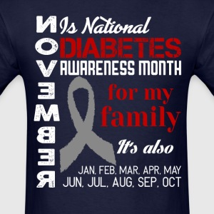 Diabetes-November is national diabetes month T-Shirts - Men's T-Shirt