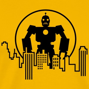 Giant Robot - Skyline T-Shirts - Men's Premium T-Shirt