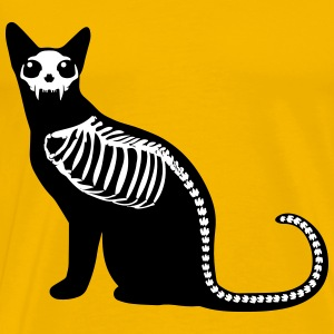 Gothic cat skeleton T-Shirts - Men's Premium T-Shirt