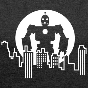 Giant Robot - Skyline T-Shirts - Women's Roll Cuff T-Shirt