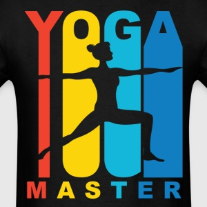 Yoga Master Warrior Two Yoga Pose Retro Shirt - Men's T-Shirt