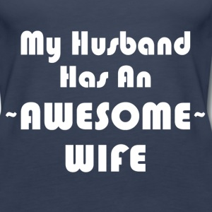 AWESOME WIFE Tanks - Women's Premium Tank Top