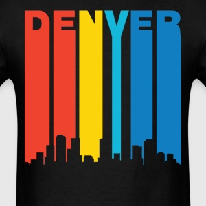 Retro Denver Colorado Skyline T-Shirt - Men's T-Shirt