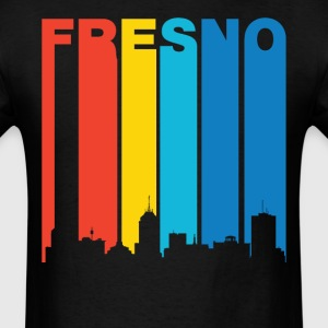 Retro Fresno California Skyline T-Shirt - Men's T-Shirt