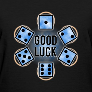 GOOD LUCK Dice - Blue (Womens) - Women's T-Shirt