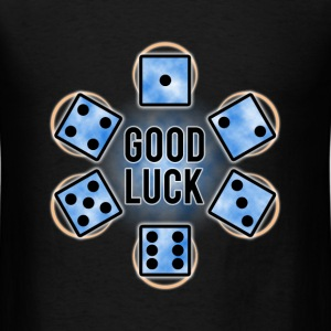 GOOD LUCK Dice - Blue (Mens) - Men's T-Shirt