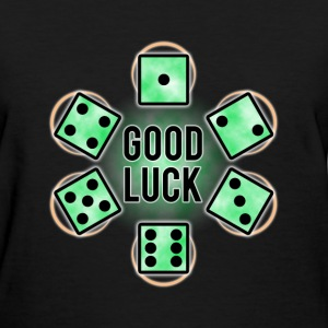 GOOD LUCK Dice - Green (Womens) - Women's T-Shirt