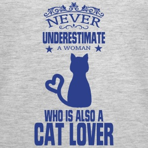NEVER UNDERESTIMATE A WOMAN WHO IS A CAT LOVER! Tanks - Women's Premium Tank Top
