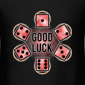 GOOD LUCK Dice - Red (Mens) - Men's T-Shirt