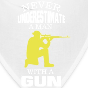 NEVER UNDERESTIMATE A MAN WITH A GUN! Caps - Bandana