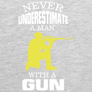 NEVER UNDERESTIMATE A MAN WITH A GUN! Sportswear - Men's Premium Tank