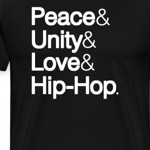 Peace & Unity & Love & Hip Hop - Men's Premium T-Shirt