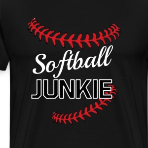 Softball Junkie Graphic F T-Shirts - Men's Premium T-Shirt