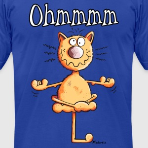 Ohmmmm Cat T-Shirts - Men's T-Shirt by American Apparel