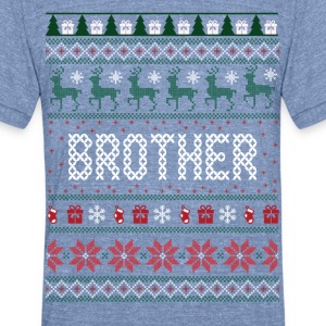 Brother Ugly Christmas T-Shirts - Unisex Tri-Blend T-Shirt
