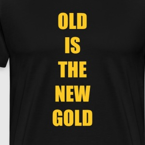 Old is the New Gold Funny Vintage T-shirt T-Shirts - Men's Premium T-Shirt