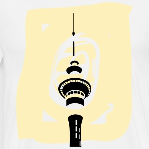 Men's Basic Skytower T (Yellow Watercolor) - Men's Premium T-Shirt