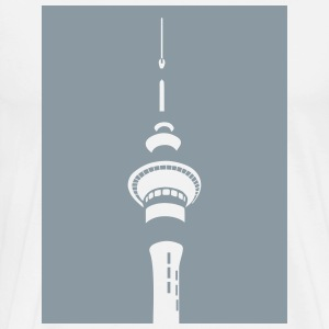 Men's Basic Skytower T (White) - Men's Premium T-Shirt