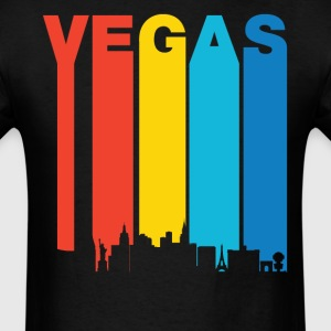 Retro Las Vegas Nevada Skyline T-Shirt - Men's T-Shirt