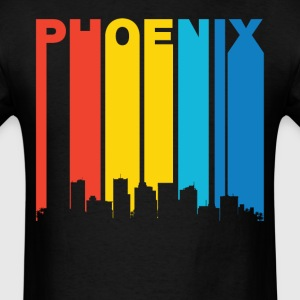 Retro Phoenix Arizona Skyline T-Shirt - Men's T-Shirt