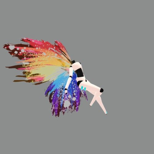 rainbow splatter wings
