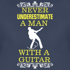 NEVER UNDERESTIMATE A MAN WITH A GUITAR T-Shirts - Women's Premium T-Shirt