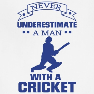 NEVER UNDERESTIMATE A MAN WITH A CRICKET! Aprons - Adjustable Apron