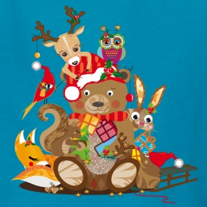 Animals celebrate Christmas Kids' Shirts - Kids' T-Shirt
