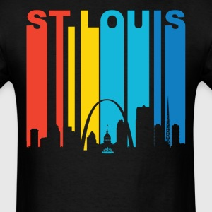 Retro 1970's St. Louis Missouri Skyline T-Shirt - Men's T-Shirt