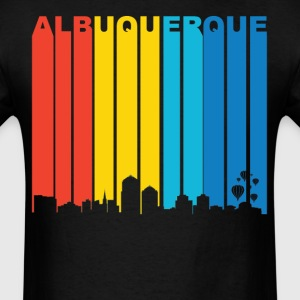 Retro Albuquerque New Mexico Skyline T-Shirt - Men's T-Shirt