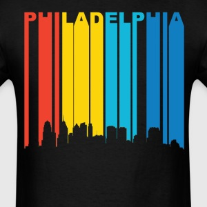 Retro Philadelphia Pennsylvania Skyline Shirt - Men's T-Shirt
