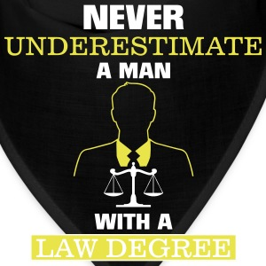 NEVER UNDERESTIMATE A MAN WITH A LAW DEGREE! Caps - Bandana