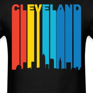 Retro 1970's Cleveland Ohio Skyline Shirt - Men's T-Shirt