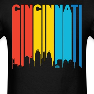 Retro 1970s Cincinnati Ohio Skyline Shirt - Men's T-Shirt
