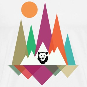 Hipster Mountains & Bear T-shirts - T-shirt premium pour hommes