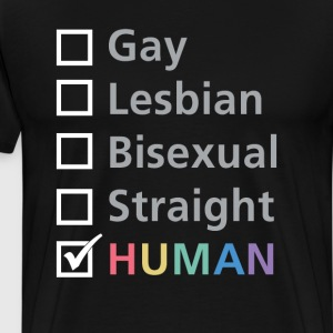 Any Sexual Orientation is Human LBGT T-Shirt T-Shirts - Men's Premium T-Shirt