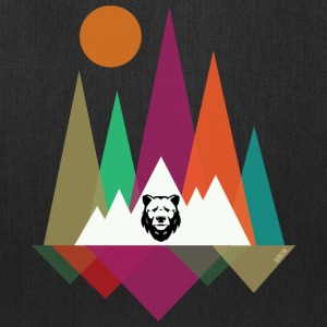 Hipster Mountains & Bear Bags & backpacks - Tote Bag