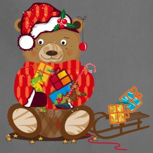 little bear with Christmas hat Aprons - Adjustable Apron