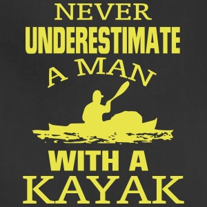 NEVER UNDERESTIMATE A MAN WITH A KAYAK! Aprons - Adjustable Apron