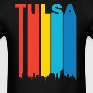 Retro 1970's Tulsa Oklahoma Skyline Shirt - Men's T-Shirt