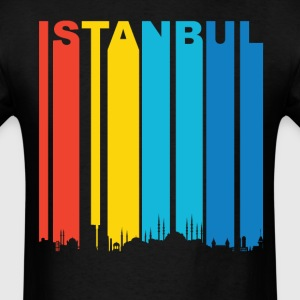 Retro Istanbul Turkey Skyline T-Shirt - Men's T-Shirt