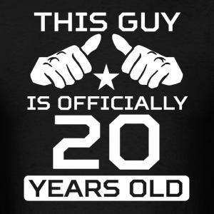 This Guy Is 20 Years Funny 20th Birthday - Men's T-Shirt
