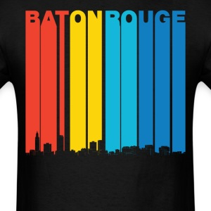Vintage Baton Rouge Louisiana Skyline T-Shirt - Men's T-Shirt