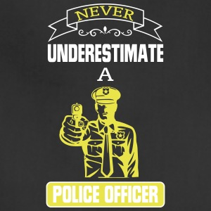 NEVER UNDERESTIMATE THE POWER OF A POLICE OFFICER! Aprons - Adjustable Apron