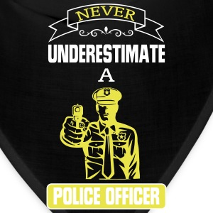 NEVER UNDERESTIMATE THE POWER OF A POLICE OFFICER! Caps - Bandana