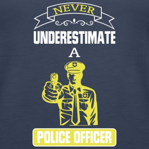 NEVER UNDERESTIMATE THE POWER OF A POLICE OFFICER! Tanks - Women's Premium Tank Top